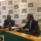 Alfonso Rodríguez, alcalde de Calvia, con Julia Otero