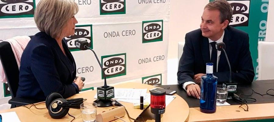 Zapatero con Julia Otero