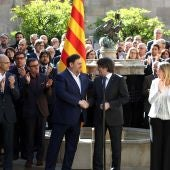 Puigdemont y Junqueras en Cataluña