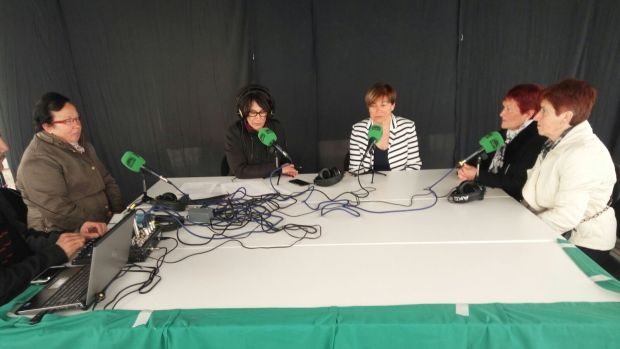 María Gómez en un programa especial de 'Cantabria en la Onda'