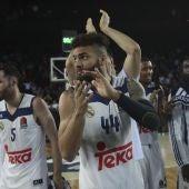 Los jugadores del Real Madrid celebrando el pase a la 'Final Four'
