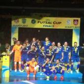 El Movistar Inter celebrando el título europeo