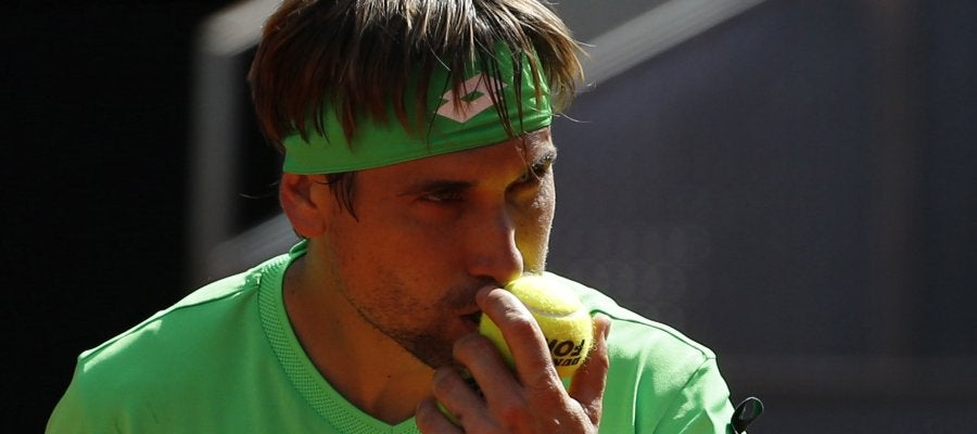 David Ferrer, en su debut en el Mutua Madrid Open