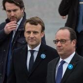 Emmanuel Macron y François Hollande