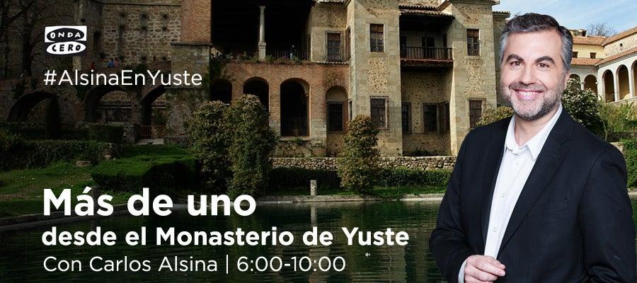 Carlos Alsina en el Monasterio de Yuste