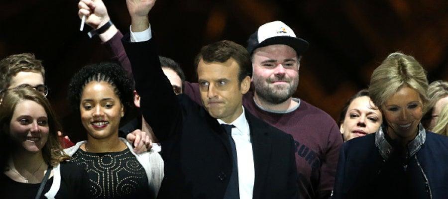 Emmanuel Macron tras su victoria en las elecciones en Francia
