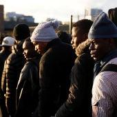 Campamento de refugiados en Porte de La Chapelle