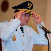 El gobernador saliente de Yakarta, Basuki Tjahaja Purnama