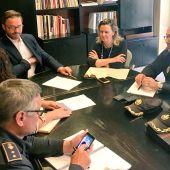 José Hila y Maria Salom en la Junta Local de Seguridad de Palma