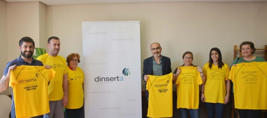 El president de Caixa Rural Vila-real, Enric Portalés  durant la presentació del centre especial d´ocupació Dinserta.