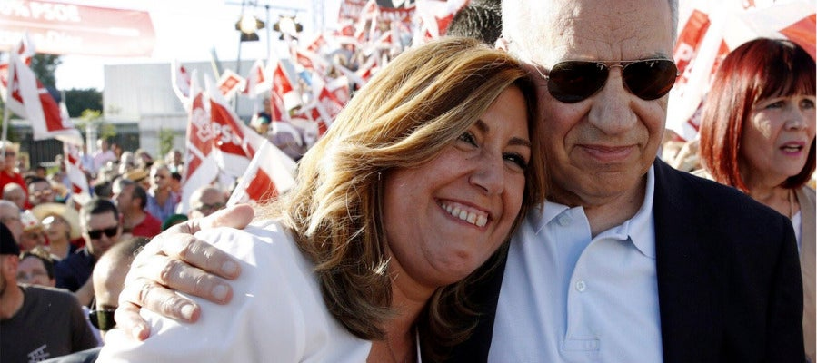 Susana Díaz junto a Alfonso Guerra en Sevilla