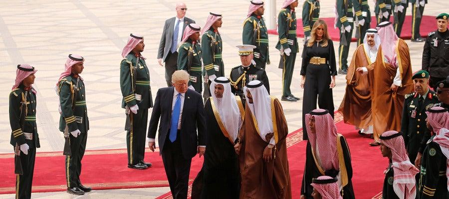 Llegada de Donald Trump a Arabia Saudí