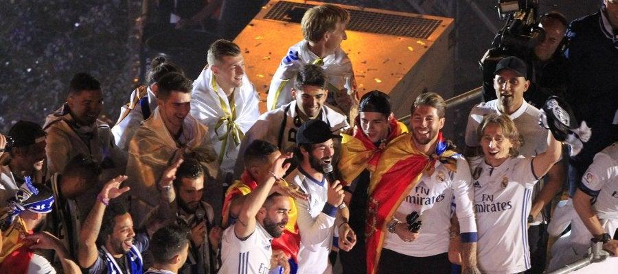 El Madrid celebra la Liga en Cibeles