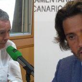 Sebastian Franquis y Gustavo Matos del Partido Socialista Canario