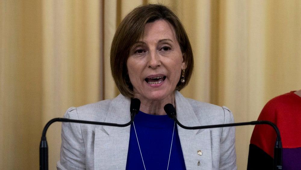 Carme Forcadell, la presidenta del Parlament