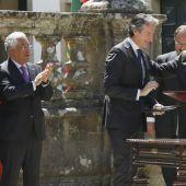 Mariano Rajoy e Íñigo de la Serna en Portugal