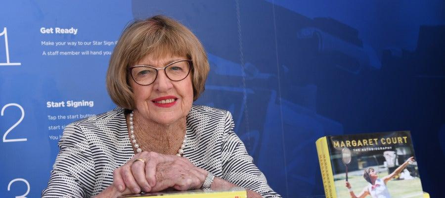 Margaret Court, en la presentación de su libro