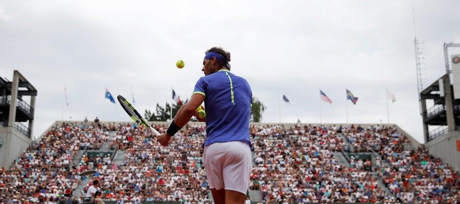 Rafa Nadal, durante un partido de Roland Garros