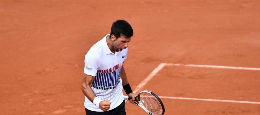 Djokovic celebra una victoria