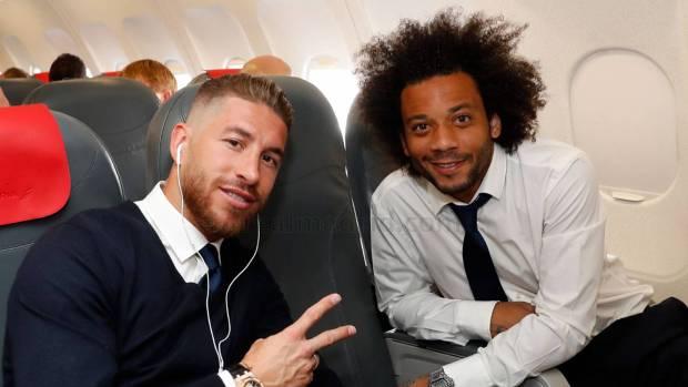 Así fue la cena de Ramos, Marcelo y Modric para animar a Cristiano Ronaldo