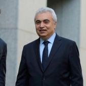 El director ejecutivo de la Agencia Internacional de la Energía, Fatih Birol, y el ministro australiano de Recursos, Josh Frydenberg