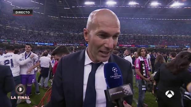 Zidane, con Susana Guasch tras ganar la Duodécima Champions del Real Madrid