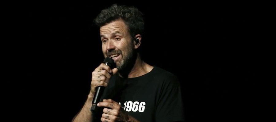 Pau Donés, vocalista de Jarabe de Palo, durante una actuación en Pamplona