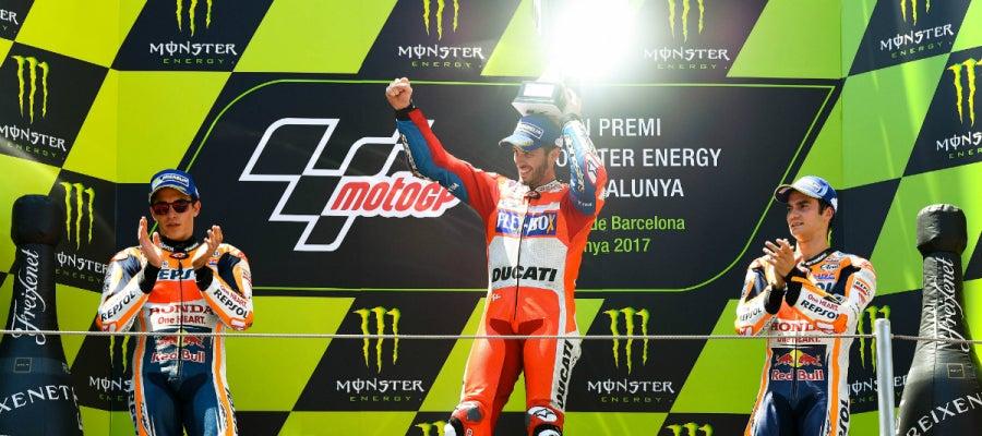 Dovizioso, en el podio de Cataluña