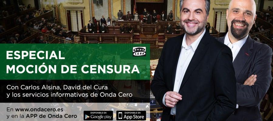 Especial moción de censura en www.ondacero.es y APP