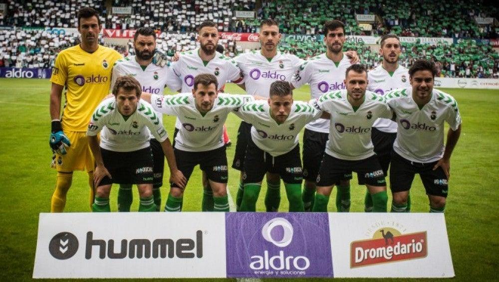 Once inicial del Racing en el partido jugado ante el Club de Fútbol Villanovense