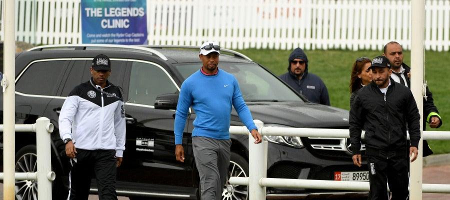 Tiger Woods, en un campeonato en Dubai el pasado febrero