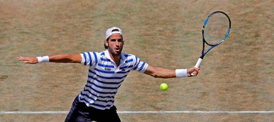 Feliciano López en el torneo de Queens