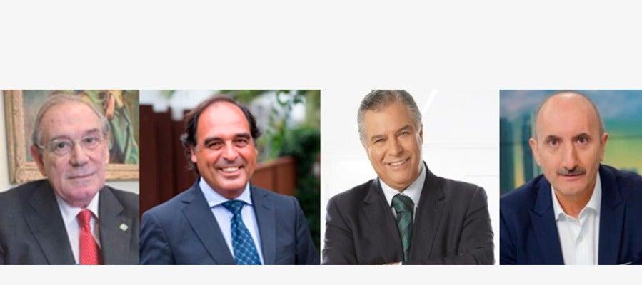 Los doctores Brau, Rodríguez, Beltrán y el periodista Gutiérrez