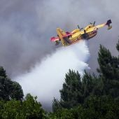 Un avión de extinción combate el fuego en Portugal