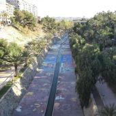 Río Vinalopó, a su paso por Elche.