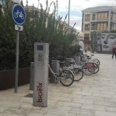 Estación de BiciElx del Paseo de la Estación de Elche.