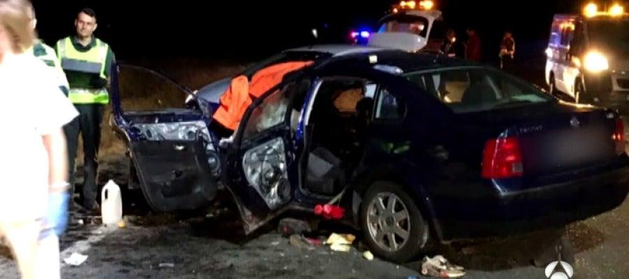 Cuatro muertos y cuatro heridos en un accidente de tráfico en Escalonilla, Toledo