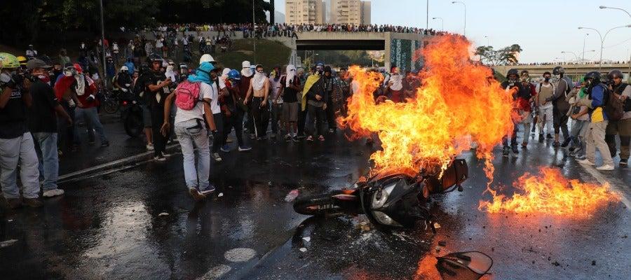 Imagen de archivo de una protesta en Venezuela contra Nicolás Maduro