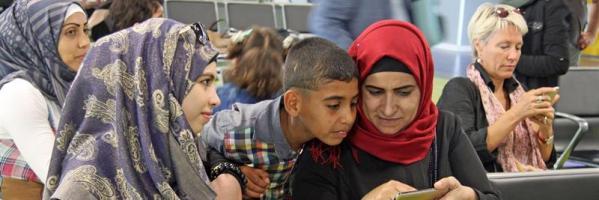 Un grupo de refugiados sirios provenientes del Líbano, imagen de archivo