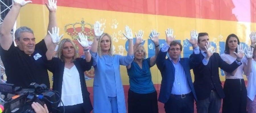 Familiares y autoridades en el homenaje a Miguel Ángel Blanco en Madrid