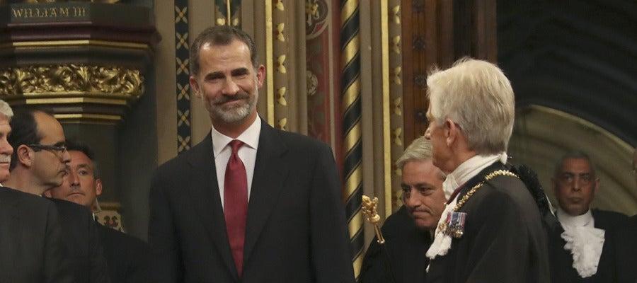 El Rey Felipe VI en el Parlamento británico