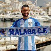El nuevo delantero del Málaga, Borja Bastón.