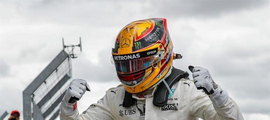 Lewis Hamilton campeón en el Gran Premio de Gran Bretaña, Silverstone