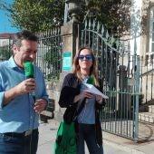 Luis Bará conversa con Susana Pedreira