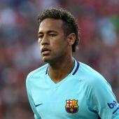 Neymar, durante un partido con el Barcelona