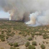 Uno de los focos del incendio de Zamora