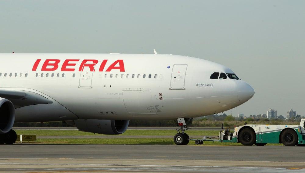 Un avión de Iberia