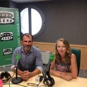 "El conseller balear de Turismo, Biel, Barceló, con la directora del programa ""Illes Balears en la Onda"", Elka Dimitrova."
