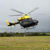 Helicóptero de la policía británica