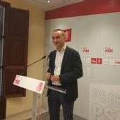 El diputado socialista, Pere Joan Pons, en la sede del PSIB